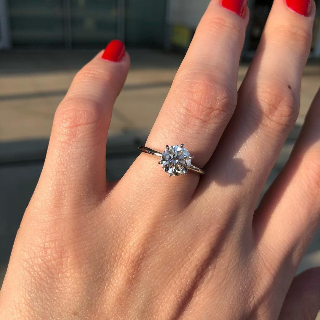 This Platinum Six Prong Solitaire By Blue Nile Is The Ultimate Classic Engagement Ring S Wedding Rings Unique Classic Engagement Rings Elegant Engagement Rings