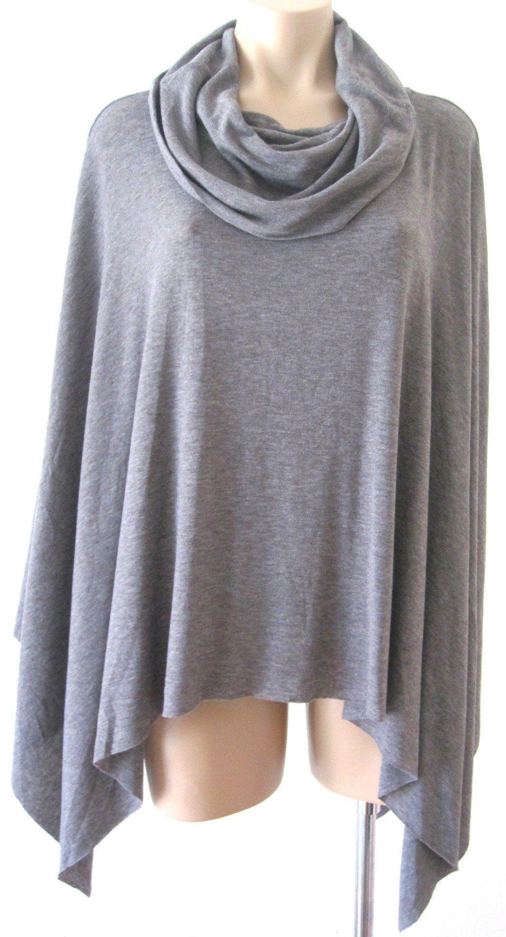 Ellie mei womenus grey multiwear maxi dress cape coverup khl