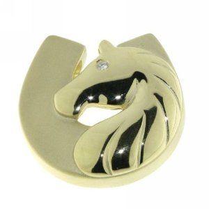 Anhänger Pferdekopf mit Hufeisen modern 14 Karat (585) Gelbgold - 13401 - http://www.wonderfulworldofjewelry.com/jewelry/charms/anhnger-pferdekopf-mit-hufeisen-modern-14-karat-585-gelbgold-13401-de/ - Your First Choice for Jewelry and Jewellery Accessories