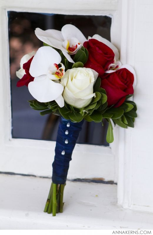 "My ""red, white, blue"" bridal bouquet - Weddingbee"