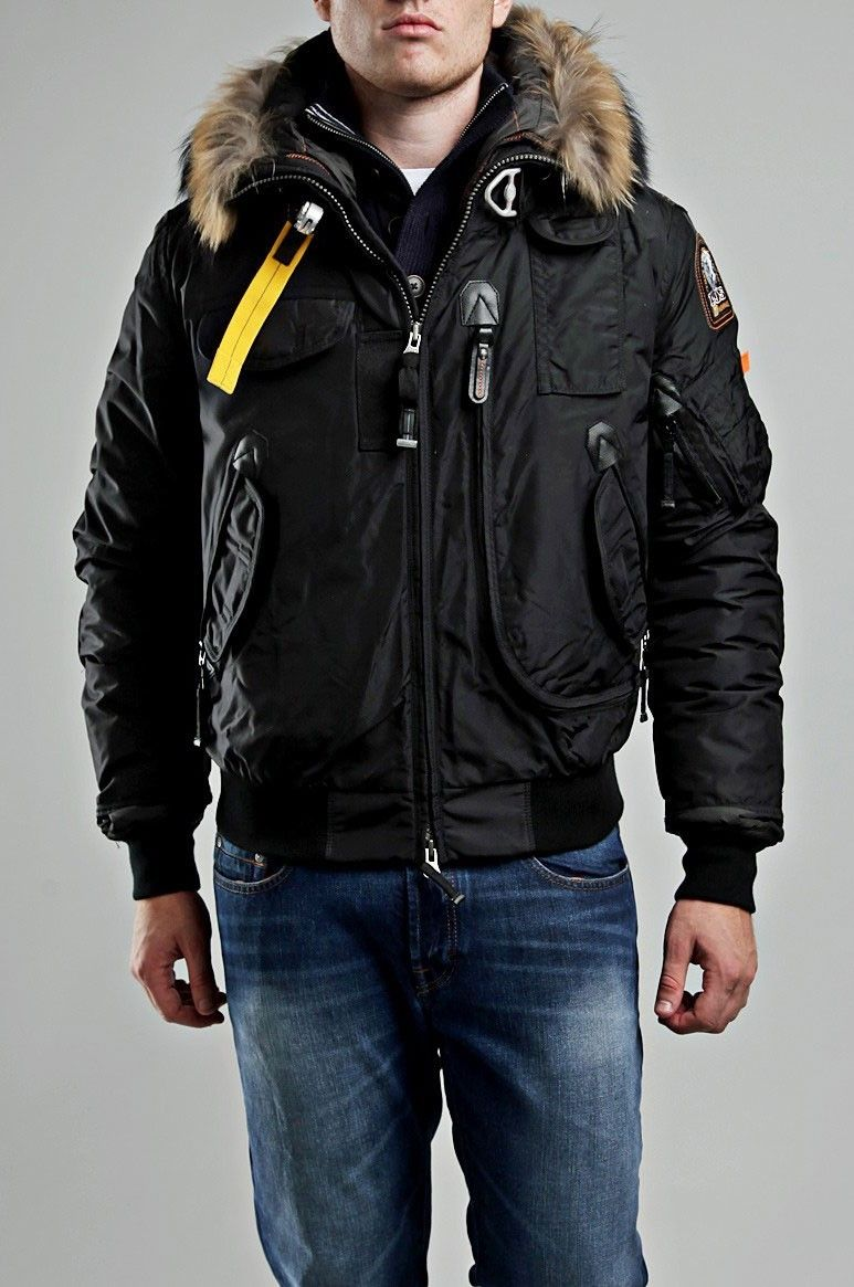 Parajumpers Gobi Bomber Jacket Black Men