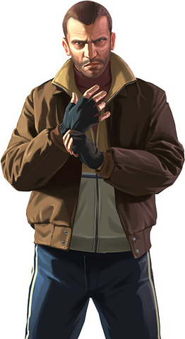 Niko Bellic GTA IV Grand theft auto artwork, Grand