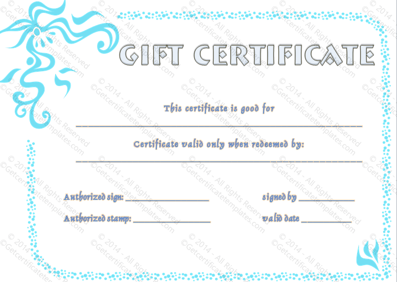 Flower Border Gift Certificate Template  Beautiful Printable Gift