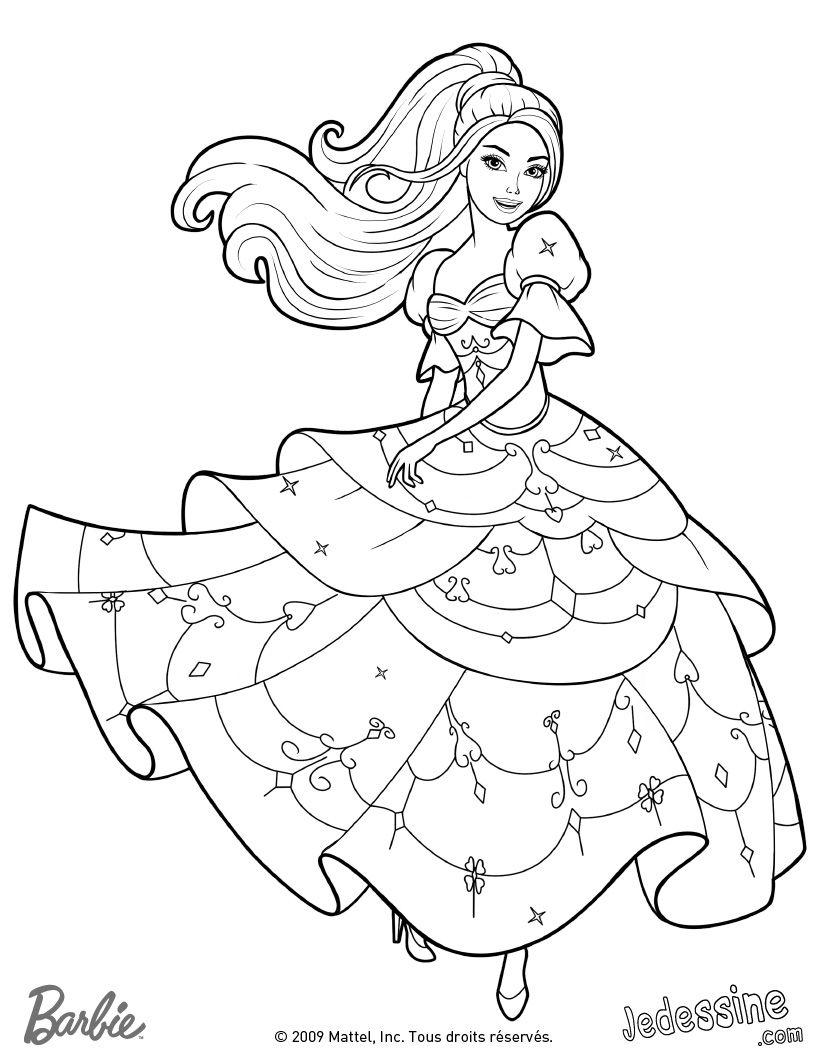 Coloriage Barbie A Colorier Dessin A Imprimer Barbie Coloring Pages Barbie Coloring Cute Coloring Pages