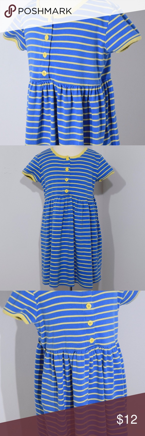 Hanna Andersson Girls Baby Doll Dress sz 120 6/7 3143 S