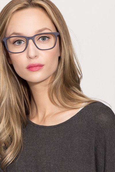 628ec3e276 Bristol Matte Navy Acetate Eyeglasses from EyeBuyDirect. Exceptional style