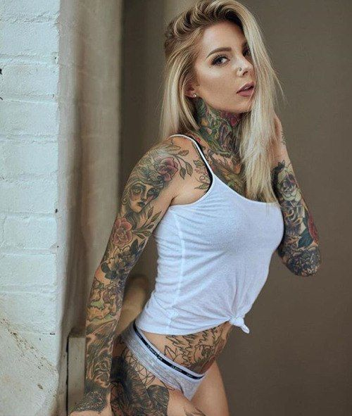amazing tattooed fitness girls women daily pics. Black Bedroom Furniture Sets. Home Design Ideas