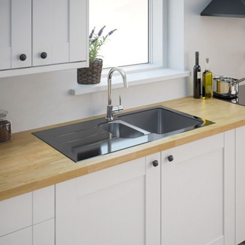 Cooke lewis lamarck 15 bowl stainless steel toughened glass cooke lewis lamarck 15 bowl stainless steel toughened glass sink workwithnaturefo