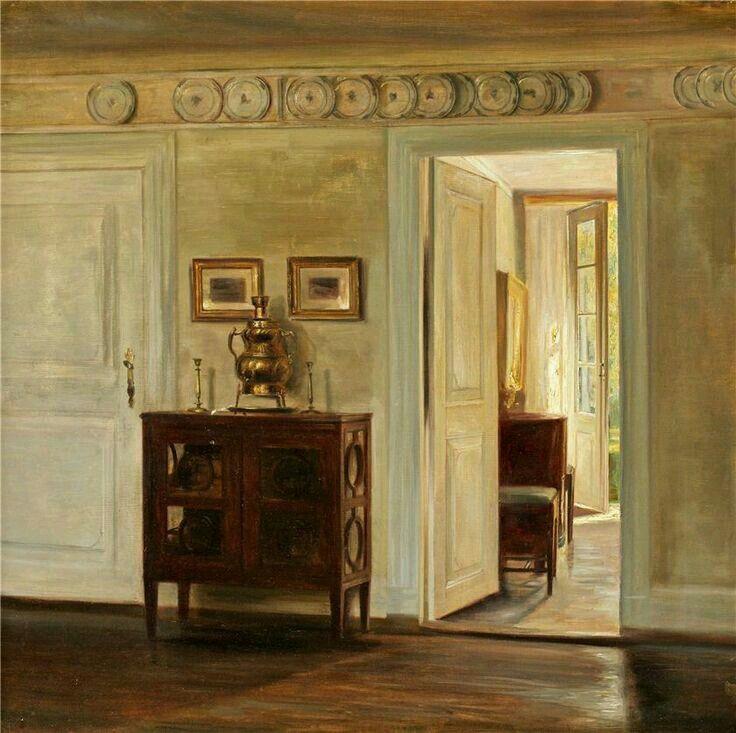 Salon Interior Carl Vilhem Holsøe Pinterest - Peindre Fenetre Bois Interieur