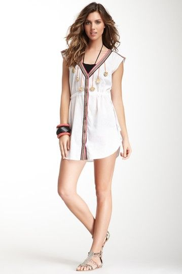 Mara Hoffman Embroidered Tunic by American Designers We Love on @HauteLook