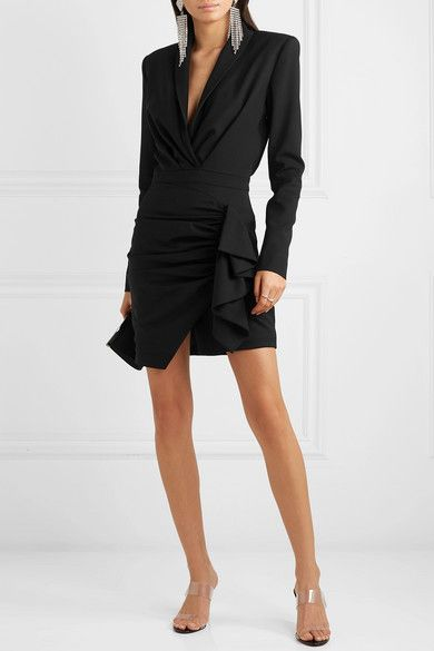 pretty cool 50% price fantastic savings Alexandre Vauthier | Ruched wool-blend twill mini dress ...