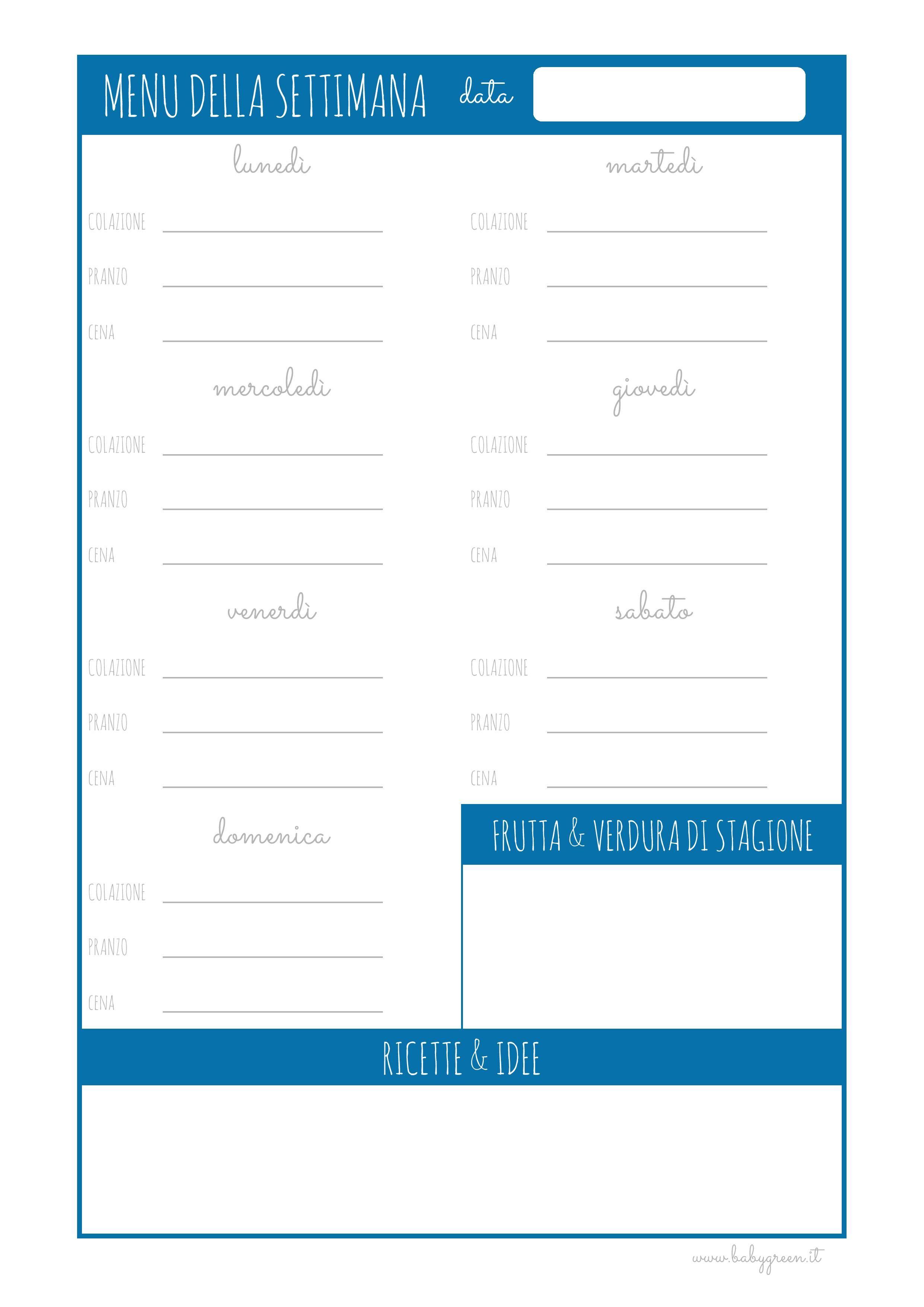 Come Organizzare I Pasti Settimanali come organizzare il menu della settimana (con immagini