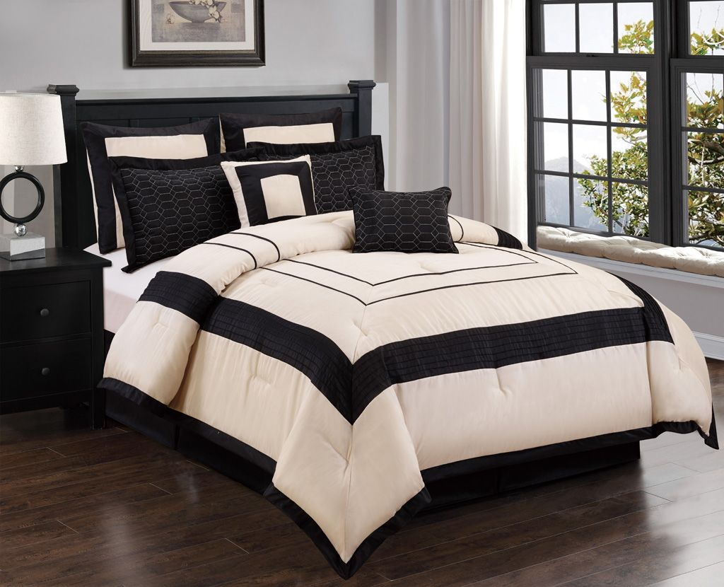 com sets amazon comforter dp decor set home piece stella kitchen queen ivory lush