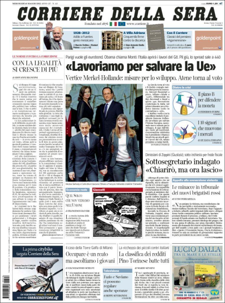 Le Prime Pagine Dei Quotidiani Di Oggi Draft It Quotidiani Lavoro Politica