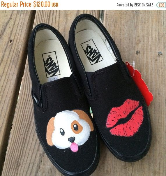 098044bafd Black Friday SALE Puppy Kisses Emoji Dog and by IntellexualDesign ...