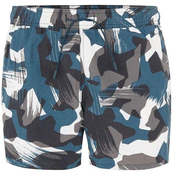 1c2b993de9 TOPMAN Camouflage Swim Shorts ($31) ❤ liked on Polyvore featuring men's  fashion, men's clothing, men's swimwear, multi, camouflage swim trunks mens  camo ...
