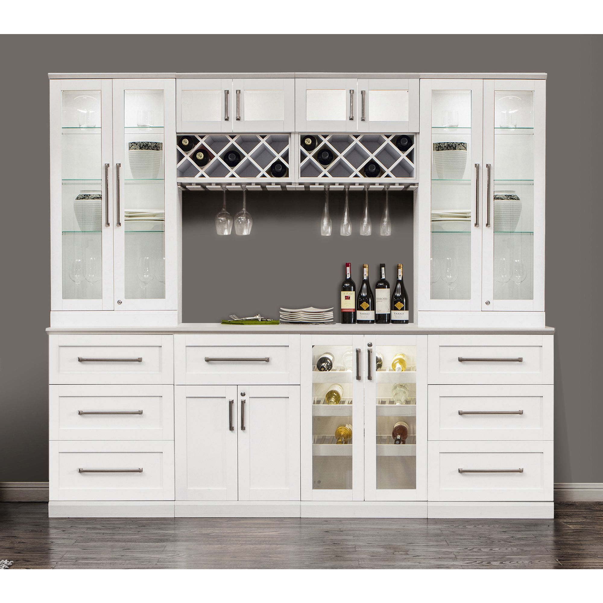 Display Your Wine Collection Proudly With The Beveled Tempered Glass Insert Home Wine Bar Bars For Home Home Bar Cabinet