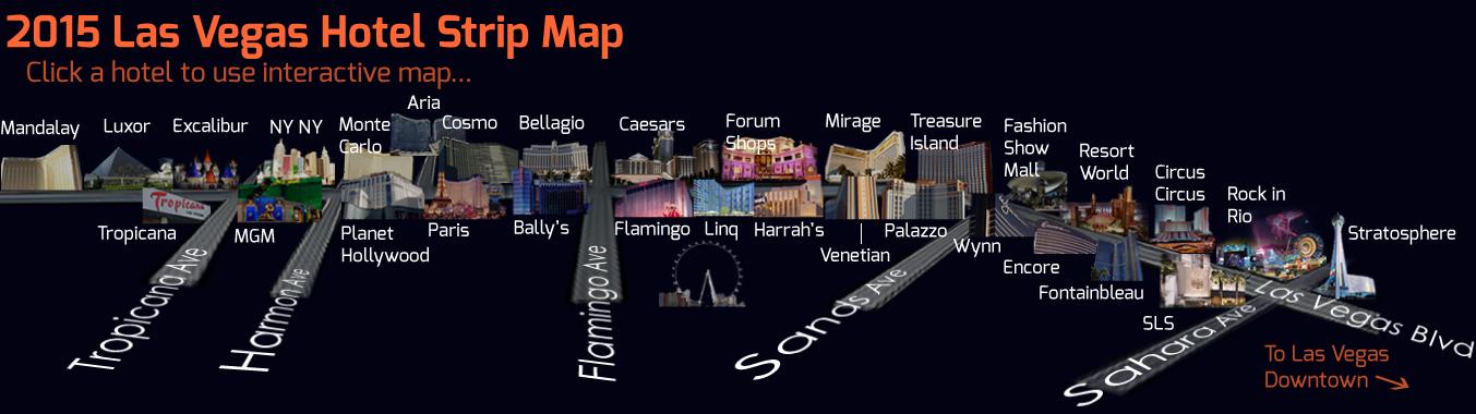 Las Vegas Interactive Map 2015 Find ever nightclub restaurant