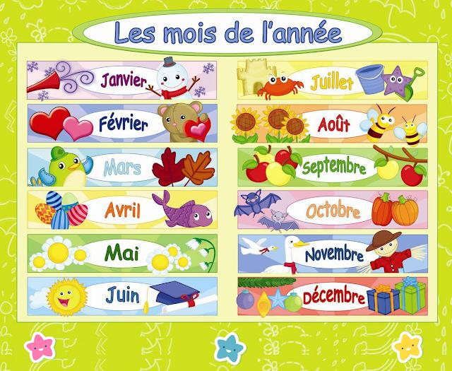 تعلم اشهر السنة بالفرنسية مع صور تعليمية Pdf French Kids French Activities Months In A Year