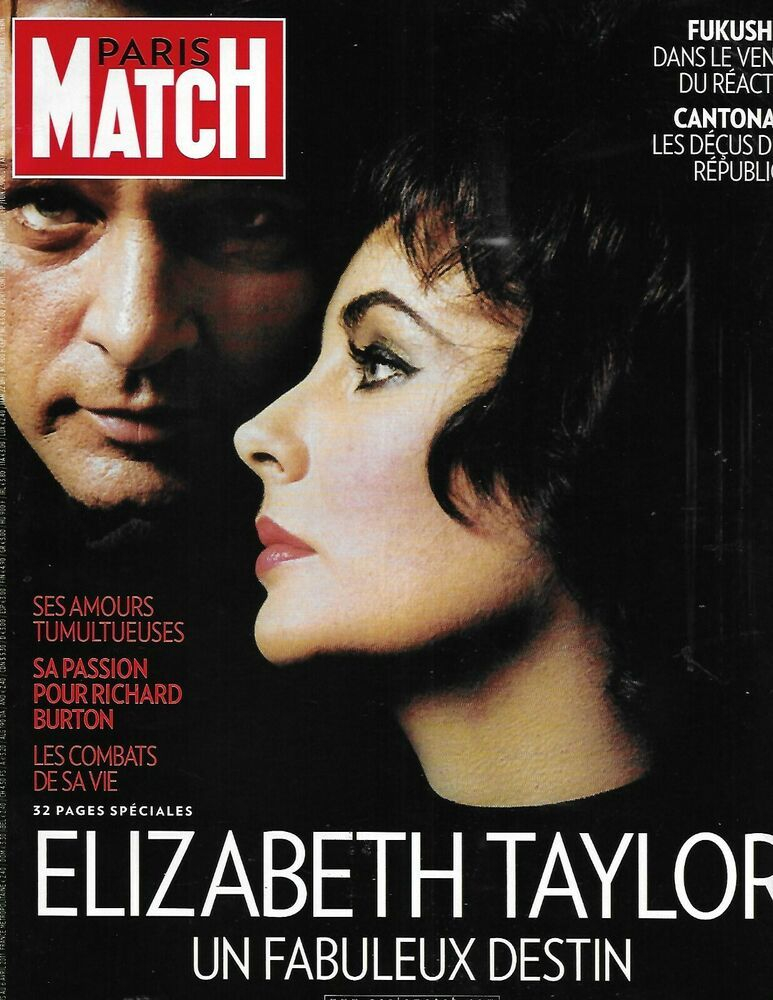 Paris Match Magazine Elizabeth Taylor Japan Fukushima Laurent Delahousse 2011 771766834429 Ebay Elizabeth Taylor Liz Taylor Richard Burton Elizabeth Taylor Cleopatra
