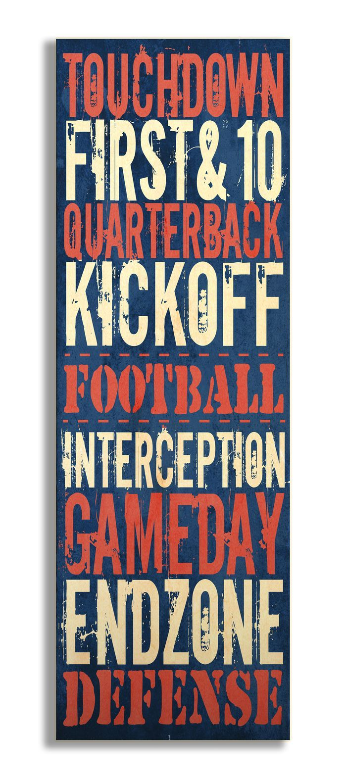The Kids Room Touchdownu0027 Football Typography Wall Plaque