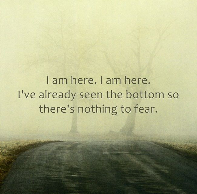 Image result for I've already seen the bottom, so there's nothing to fear