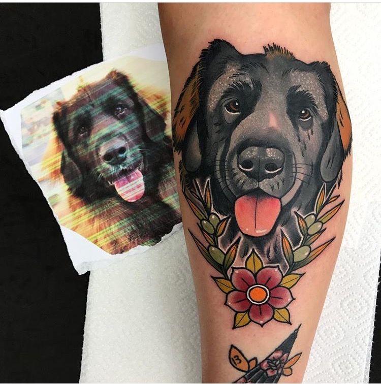 Leonberger Dog Portrait By Gibb0o Leonberger Tattoo Dogportrait Gibb0o Neotraditional Neotraditionaldog Dog Portrait Tattoo Tattoos Traditional Tattoo