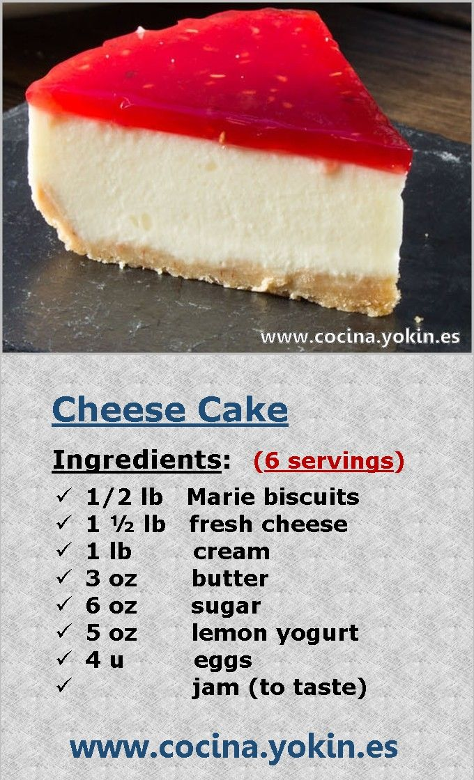 CHEESECAKE - A dessert that has reached a wide spread everywhere, by its finish so colorful and the number of versions that can be performed.