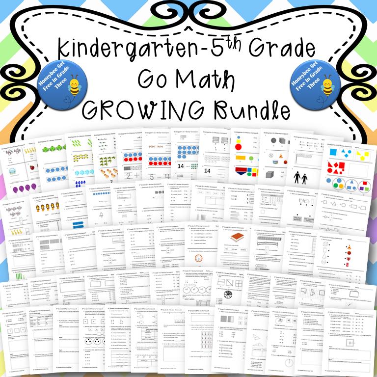 Kindergarten-Fifth Grade Go Math Chapter Review Homework ...