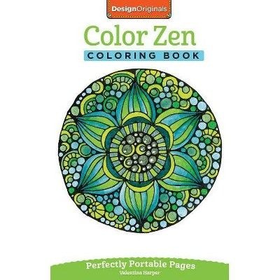 Color Zen Coloring Book On The Go Coloring Book By Valentina Harper Paperback In 2020 Designs Coloring Books Coloring Books Zen Colors