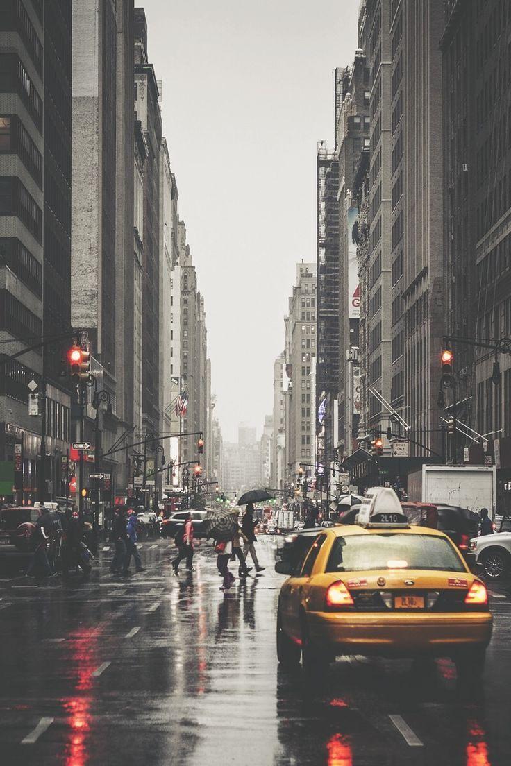 Busy New York Avenue Busy New York avenue during rain  Photography  Juli Ana