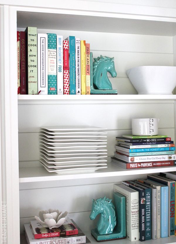 Do You Love The Look Of Books And Cookbooks In A Kitchen They Great Styled With Dishes On Open Shelves