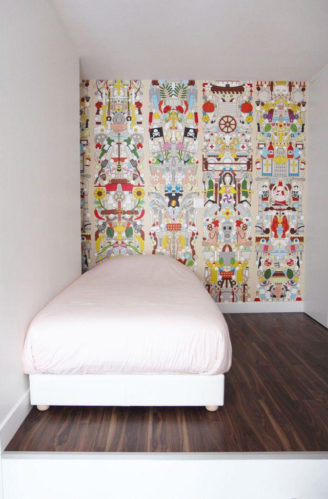 Chambre au papier peint original