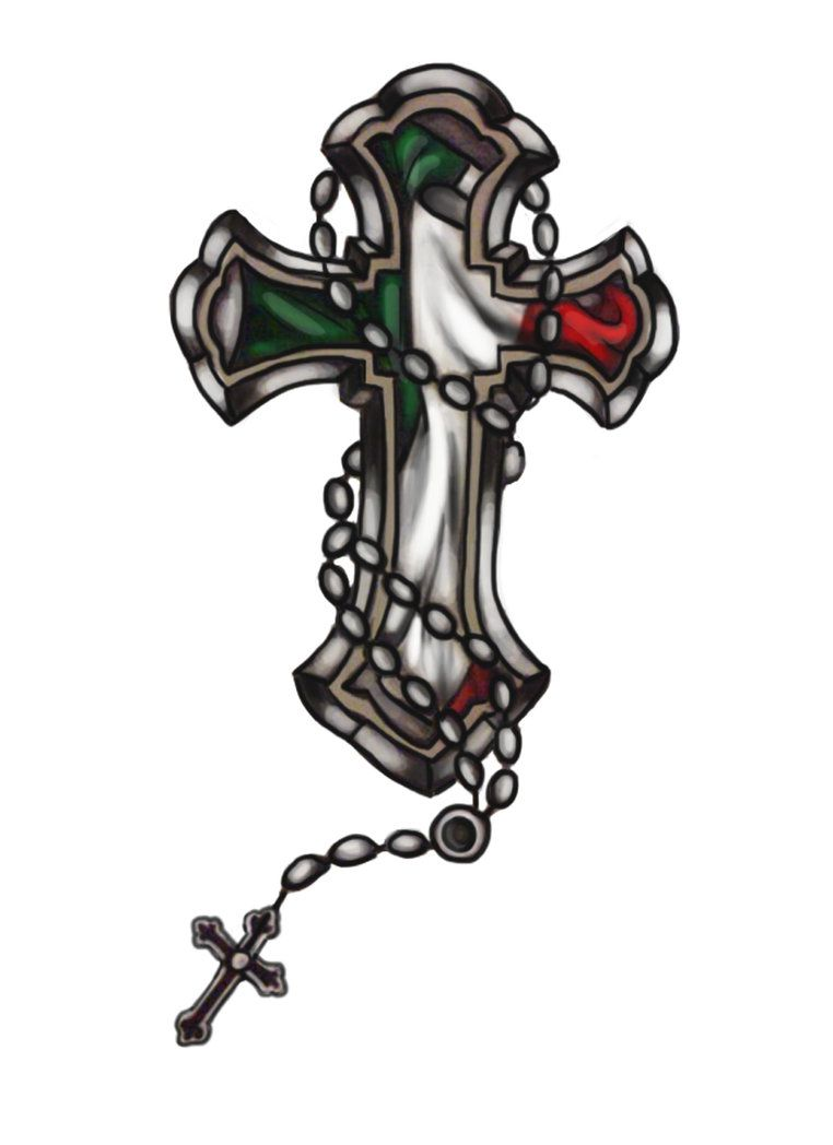 Italian flag cross with rosaries tattoos pinterest italian italian flag cross with rosaries buycottarizona