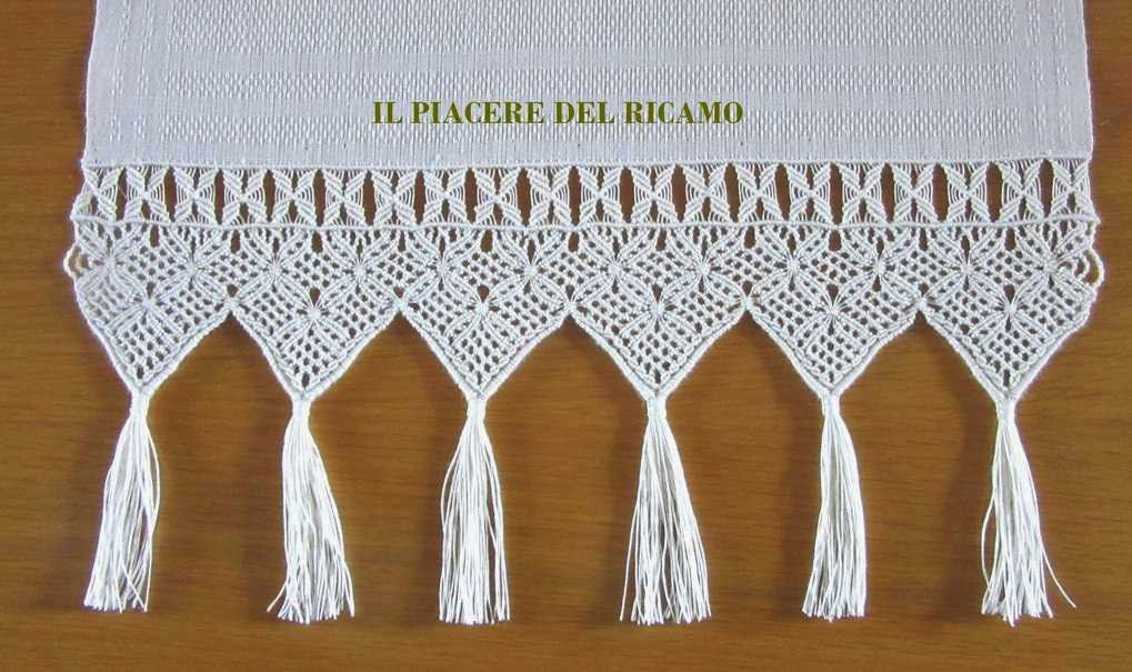 il piacere del ricamo macram classico finito macrame pinterest. Black Bedroom Furniture Sets. Home Design Ideas
