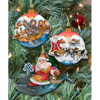 Designocracy 3 Piece Christmas Journey Ornament Set in 2018