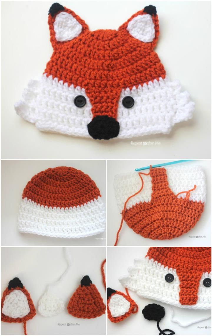 a5c8af8cfcc Chunky Crochet Fox Hat - 17 Free Crochet Baby Beanie Hat Patterns