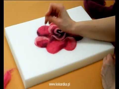 Filcowane Na Sucho Aplikacje Na Ubrania Youtube Felt Crafts Felting Tutorials Diy And Crafts