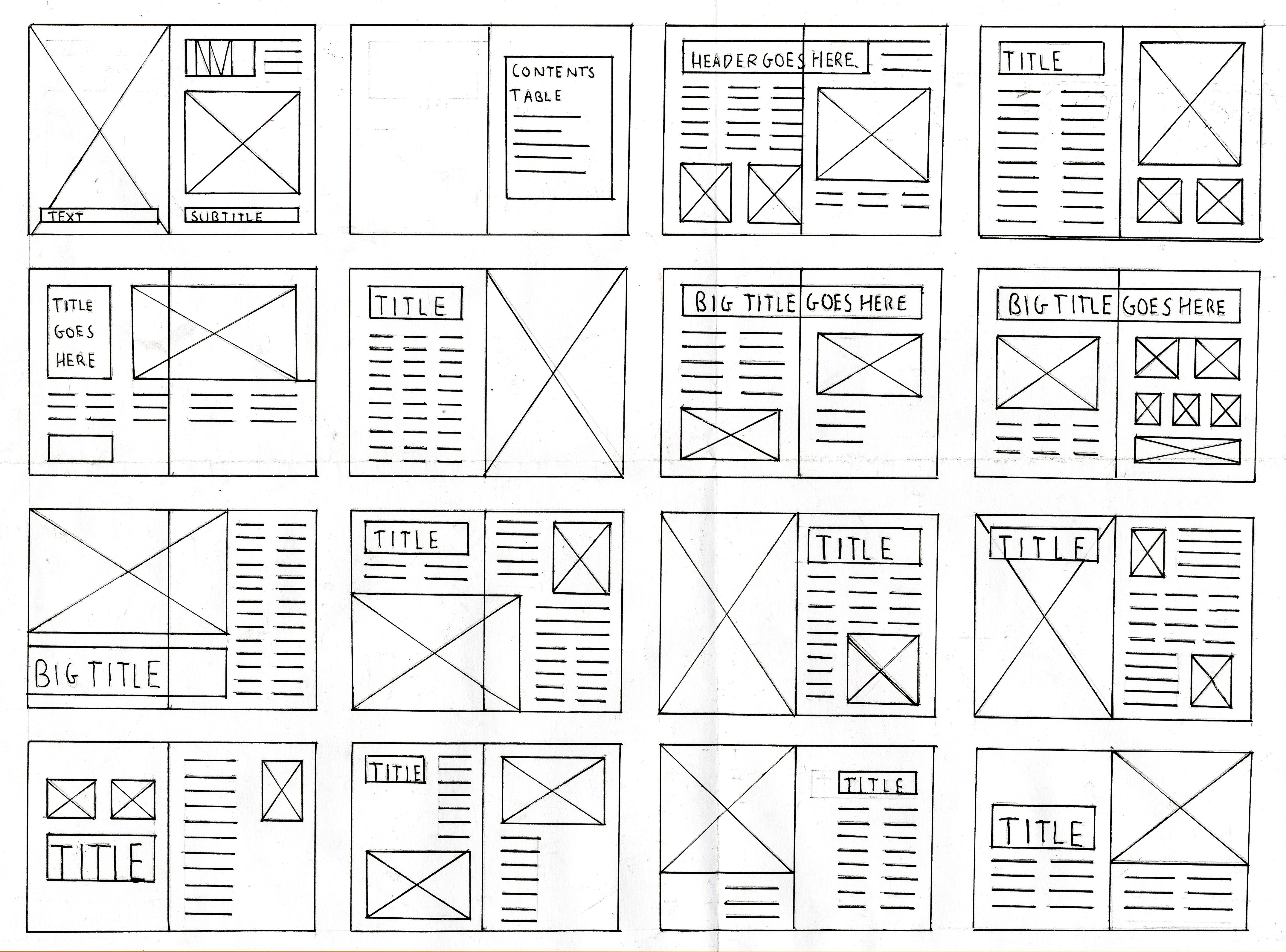 Magazine Layout and Grid Thumbnails | Pinterest | Template ...