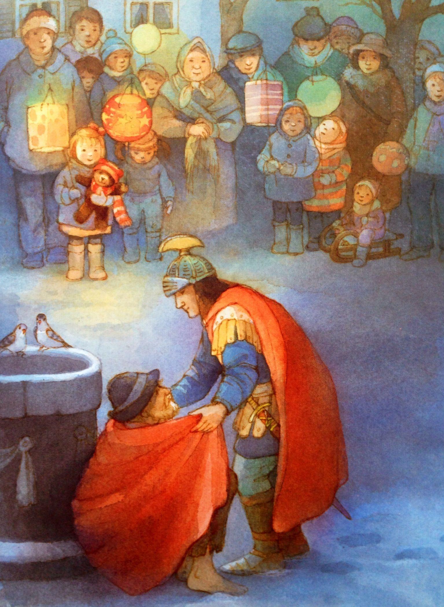 Illustratie Maja Dusikova Uit Het Boek Sint Maarten En Het