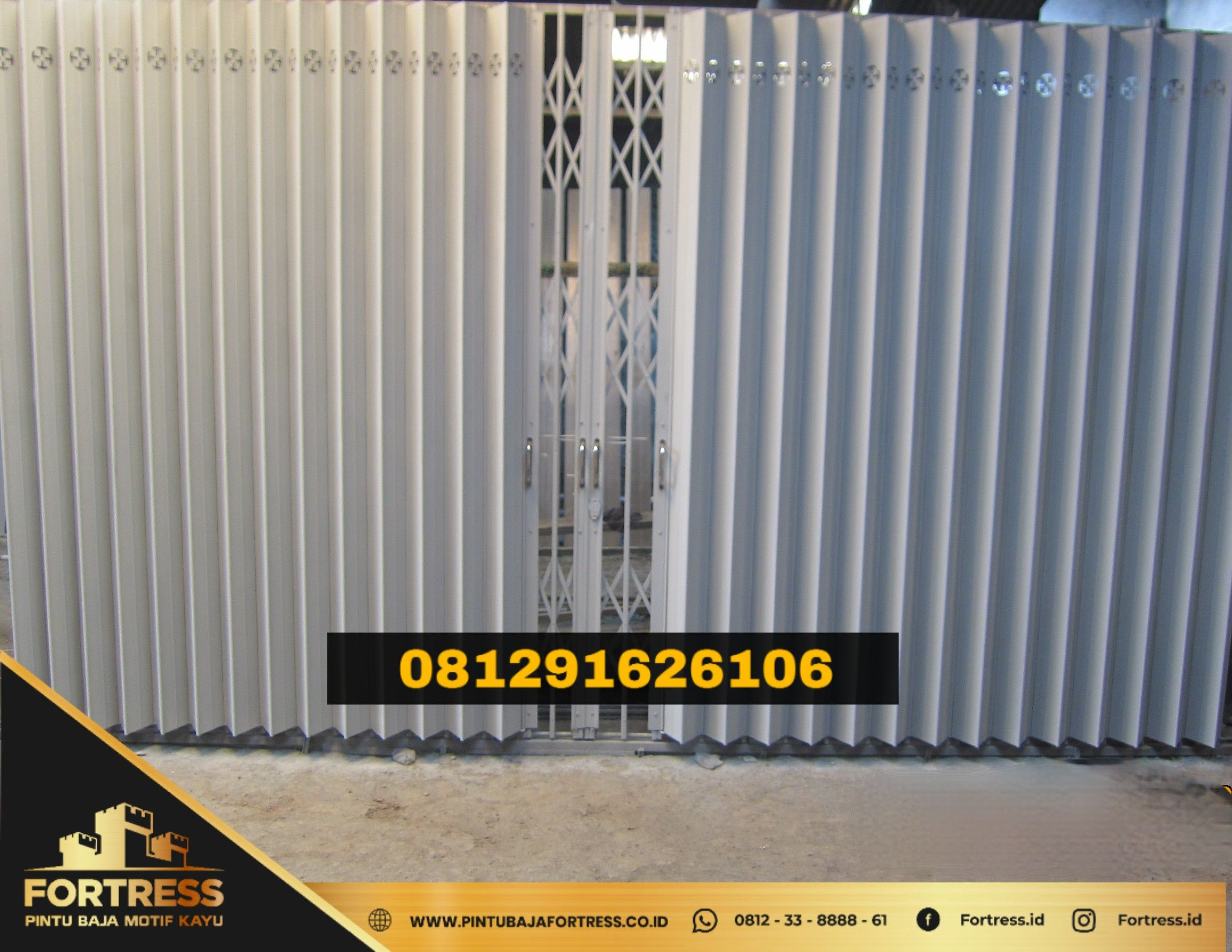 0812-3388-8861 (FORTRESS), Price of Folding Gate Blitar Tangsel …