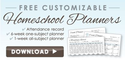 Free Downloadable Homeschool Planners  Homeschool Planners And