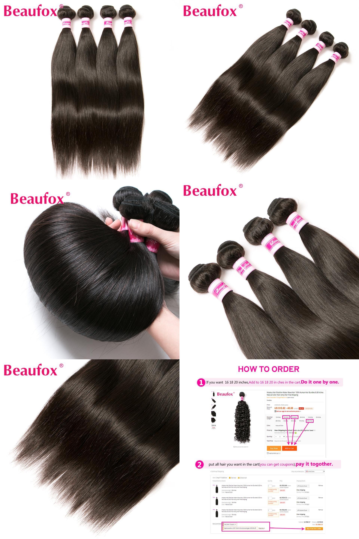 Visit To Buy Beaufox Indian Straight Hair Bundles 100 Human Hair