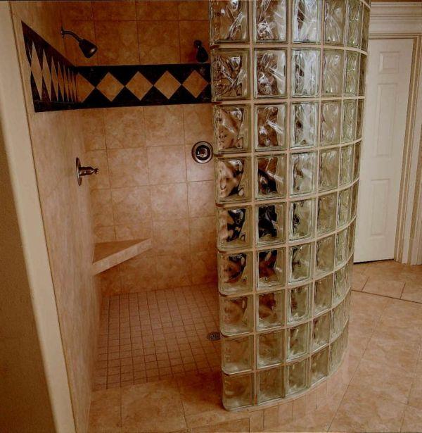 glasbausteine fr dusche im kleinen bad - Dusche Mauern Glasbausteine