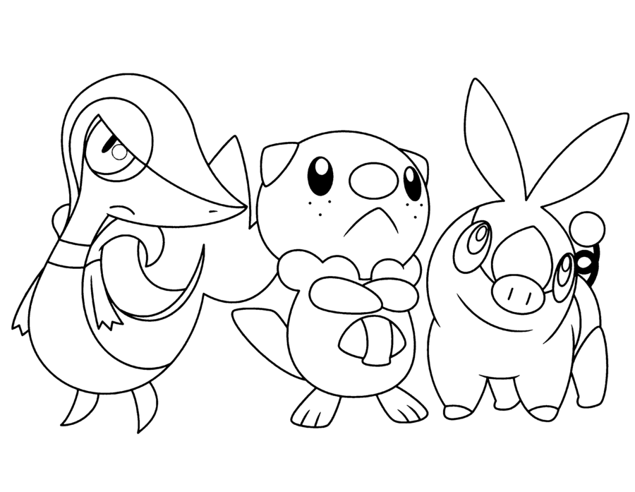 Pokemon Snivy Tepig Oshawott Coloring Pages | Pokemon ...