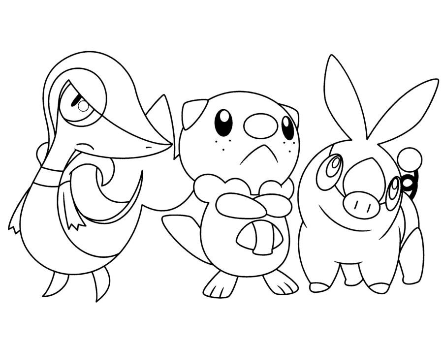 Pokemon Snivy Tepig Oshawott Coloring Pages Sketch Coloring Page Pokemon Coloring Pages Coloring Pages Pokemon Coloring