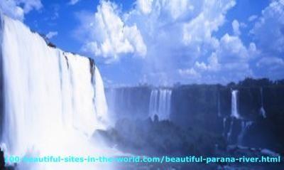 Beautiful Parana River, Iguacu River, Iguacu Falls.