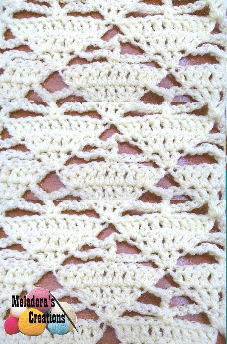 Triangle Lacy Stitch - Free Crochet Pattern | Creative Crochet ...