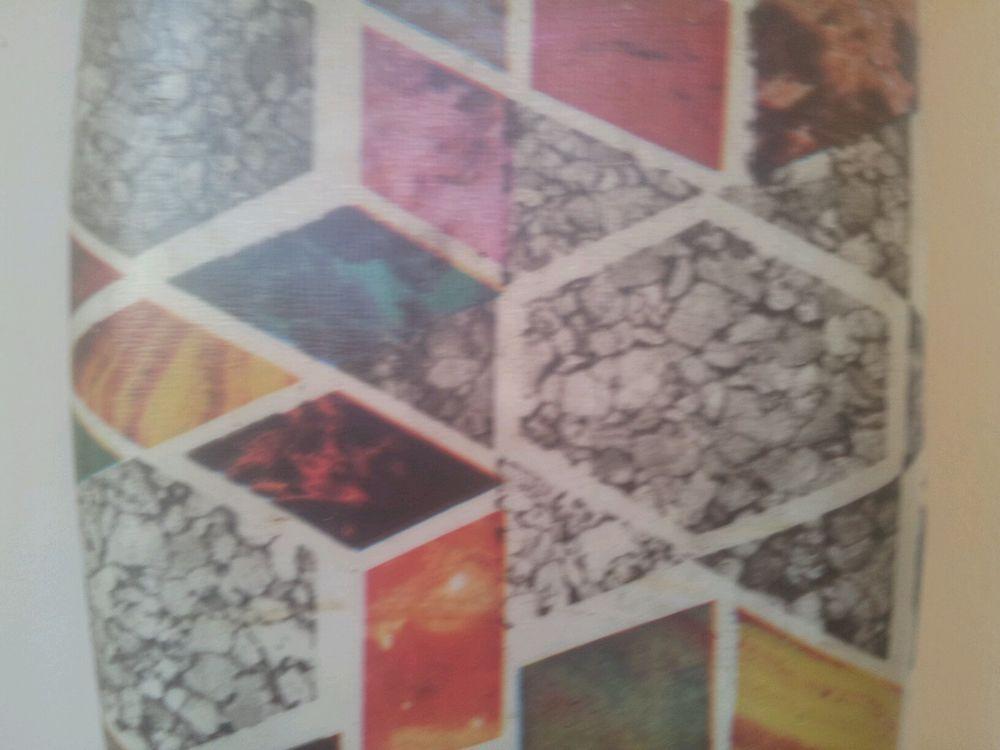 Roll vtg 60s linoleum lino vinyl floor covering natural