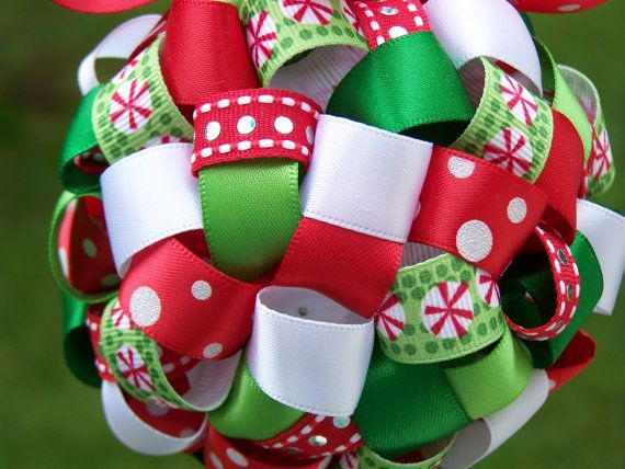 Christmas Ribbon Ornament by BJRCreations on Etsy ...